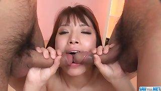 Threesome sex with young Hinata Tachibana