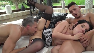 Two men to deep fuck this insanely hot milf