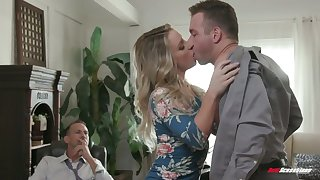 Harlot wife Kate Kennedy is fucked by hot blooded lover winning of cuckold husband