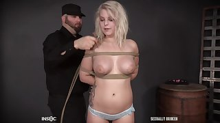 Pussy painful with tension in bondage be worthwhile for blonde Taylor Nicole