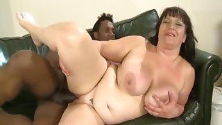 Sugar breasty Stygian of age female in my favorite interracial video