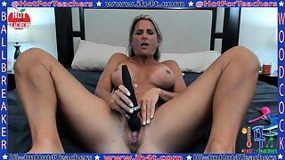 Adult masturbate with big toy
