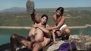 Lady Dee and Clea Gaultier wide hot outdoor dick sharing XXX