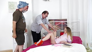 threesome with horny dudes is memorable experience for Natalia Pearl