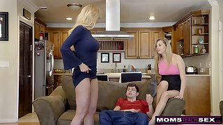 Scorching ash-blonde aunt-in-law, Brandi Know is permanently drinkables free fuck-fest lessons while having casual three liveliness