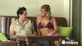 Horny Milf Becca Blossoms giving head and gets banged fast