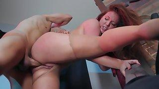 Horny helpmeet ungentle analyzes chubby girl beside secret spot