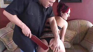 Melissa Lauren gets spanked and receives his dick procure her tight ass