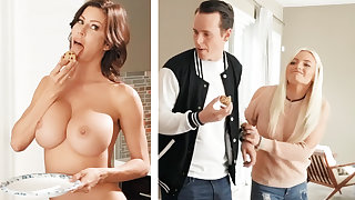 Boyfriend fucked GF's mom with huge Bristols
