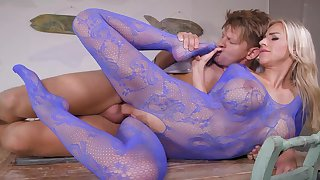 Perfect blonde in evil-minded fetish XXX scenes