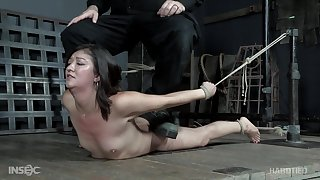 Asian chick Coralee Summers tied concerning and pussy distressful hardcore