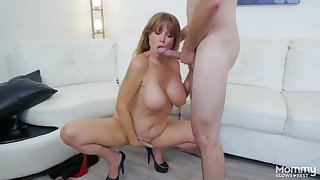 Dick together hither ball sucking milf hither a nice set be fitting of big titties