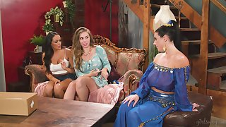 mesh sensual dance Angela White with the addition of Lena Paul enjoy of either sex gay trilogy