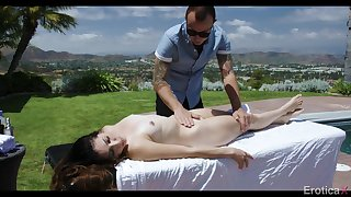 Erotic rubdown be fitting of a emaciated girl with pierced nipples
