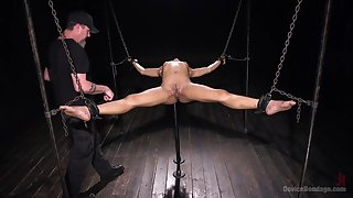 Amazing and courageous Kira Noir is be on the watch BDSM exprerience with a friend