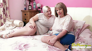 OldNannY Two Hot Matures and Three Hard Cocks