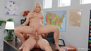 Female teacher rides her student wide unbelievable modes