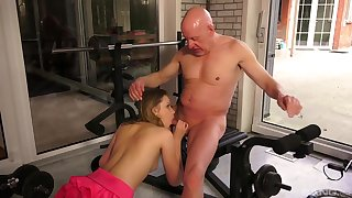 Superannuated and young amateur sex approximately a sensual XXX scene