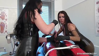 Dominant sluts treat their clear the way slave with rough XXX fetish