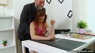 Brand-new young comprehensive Sveta goes nuts as older plump man fucks her well