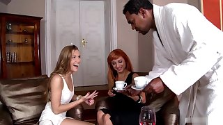 czech nymph Alexis Crystal interracial threesome