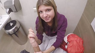 Microscopic Comme ci Teen Fucked For Cash In Public Restroom POV