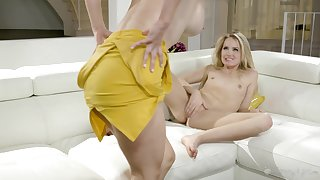 Charming MILF enjoying oral copulation with a alluring young woman