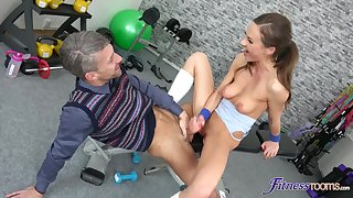 Never did this slim beauty had ever enjoys older dick as if turn this way