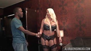 Big white woman bangs black man like a sore bitch