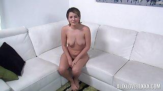 Shamelessly hot curvy vixen Alix Lovell just wants to suck a cock