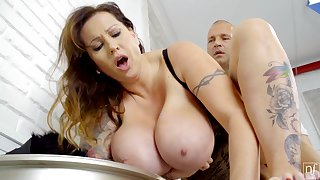 Tall Hungarian MILF with oustandingly natural Bristols loves to get fucked properly