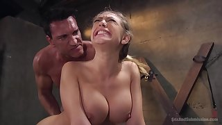 Brutally exasperation fucked and deepthroated peaches bitch - BDSM hardcore