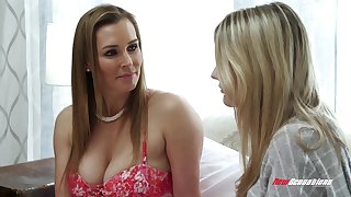 Big breasted MILF stepmom Tanya Tate having sex with her comely stepdaughter
