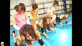 Catfight anal pro wrestling