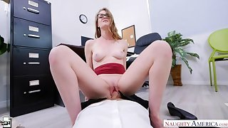 Ashley Lane fucking in hammer away office with their way athletic body